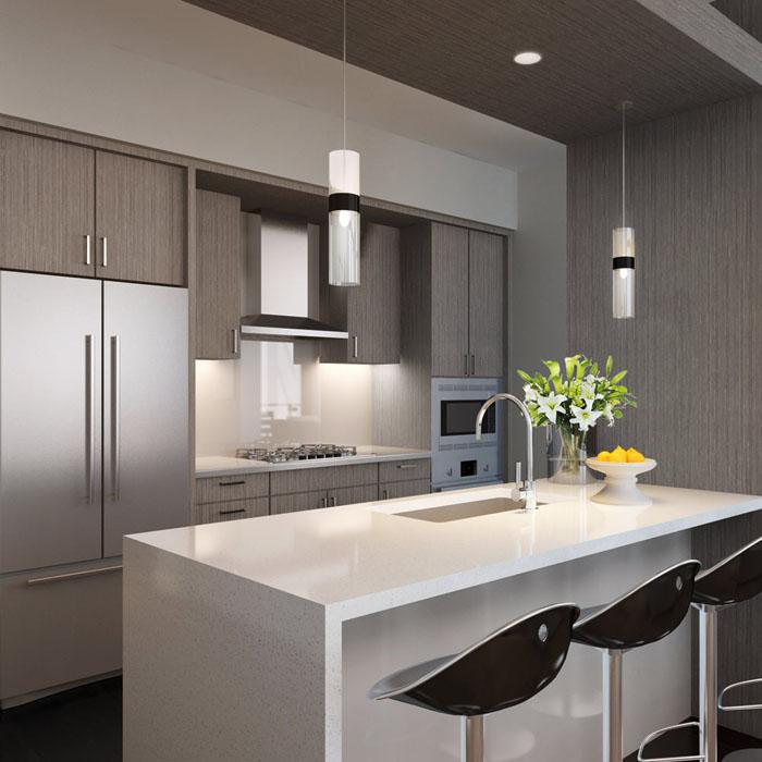 Luma Condo Kitchen Features First Hill Seattle