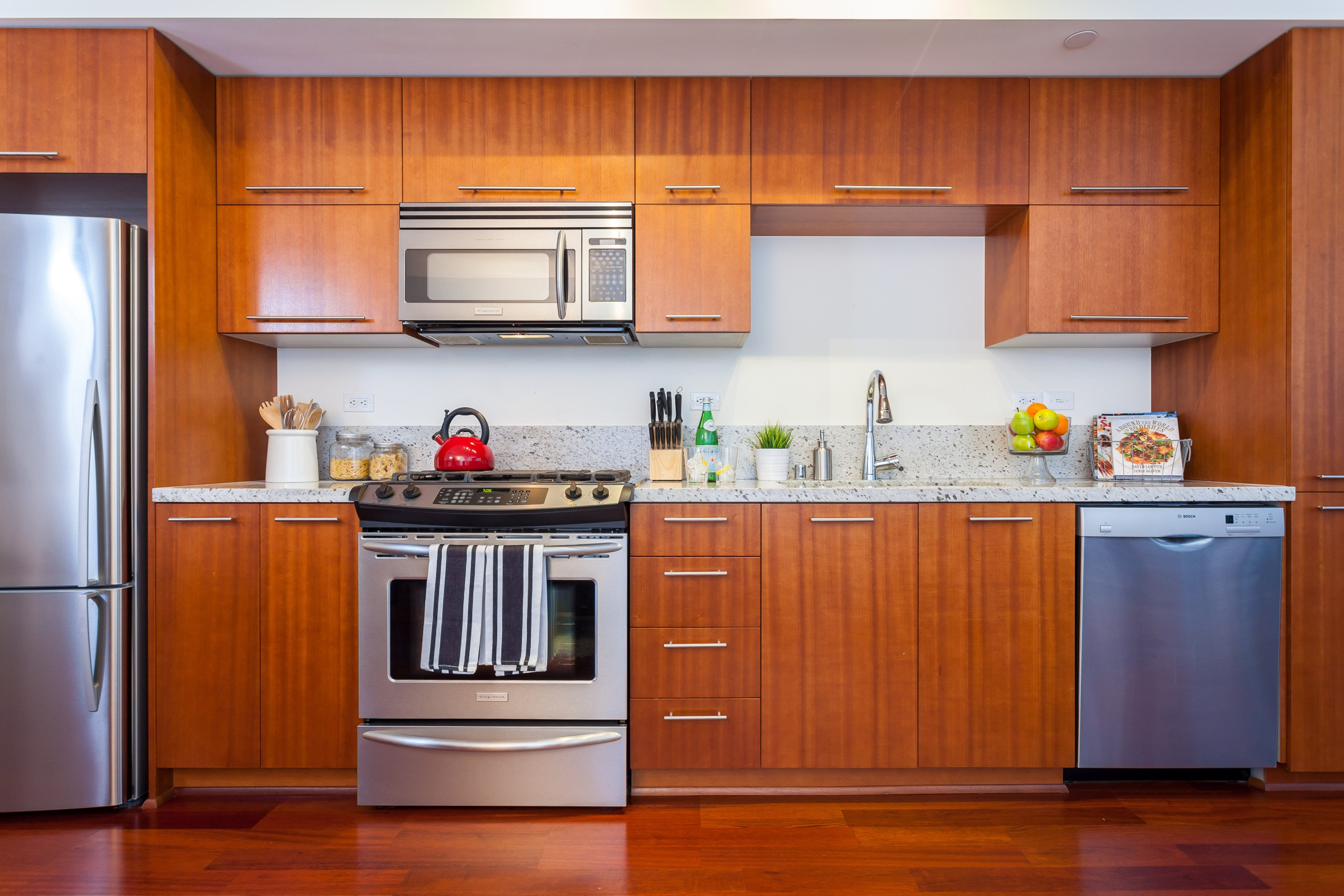 Gallery belltown luxury studio condo with space needle - Seattle kitchen appliances ...