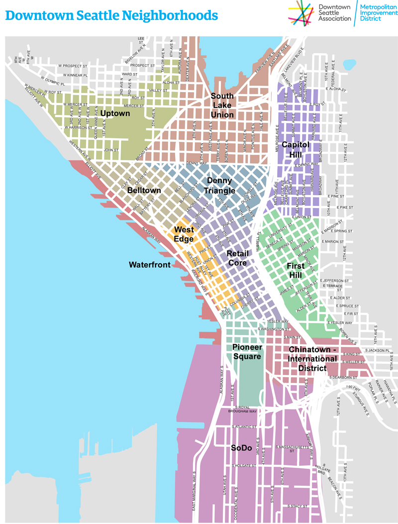 Chinatown Seattle Map