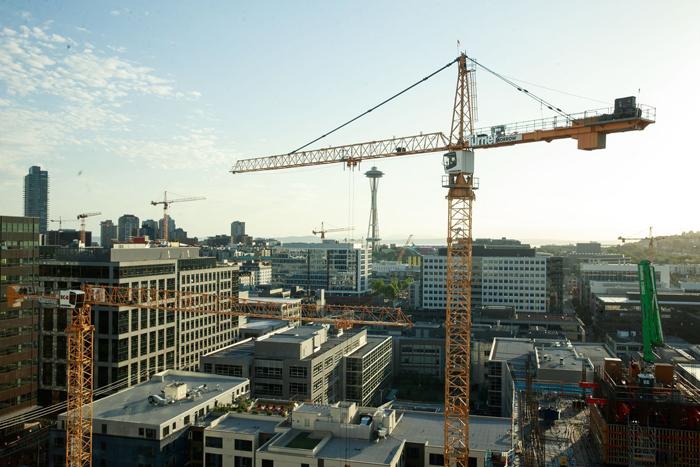 Crane Capital Seattle Construction Boom Urbanash Real