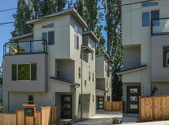 West Seattle New Construction Townhome