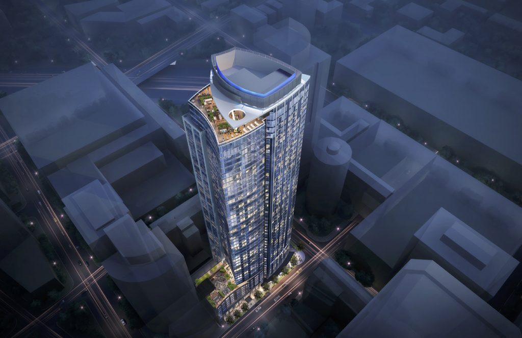 802 Pine will include 494 residential units and 203 hotel rooms.