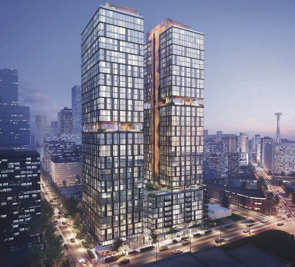 On the east side of the block, Miami-based developer, Crescent Heights, is planning for two 40-story residential towers with about 941 units, retail, and below grade parking at 1901 Minor Street.