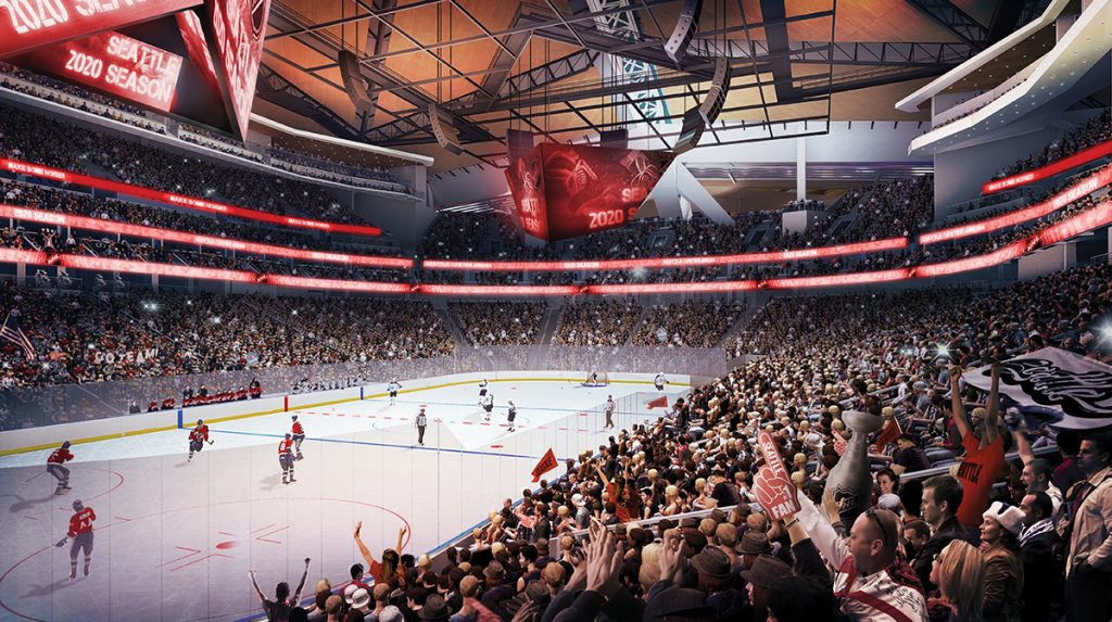 Oak View Group unveiled new plans this week for the $600 million KeyArena redevelopment. Construction could begin at the venue later this year.