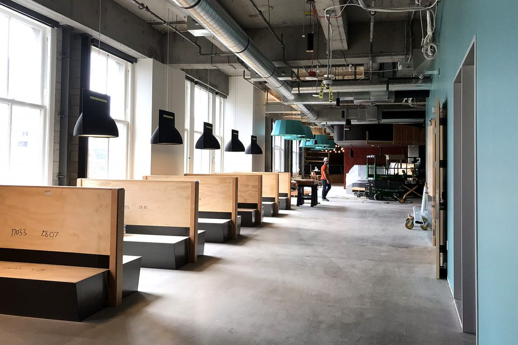 This week we were able to tour 300 Pine, Amazon's new office space in the upper floors of the Macy's building in downtown Seattle.