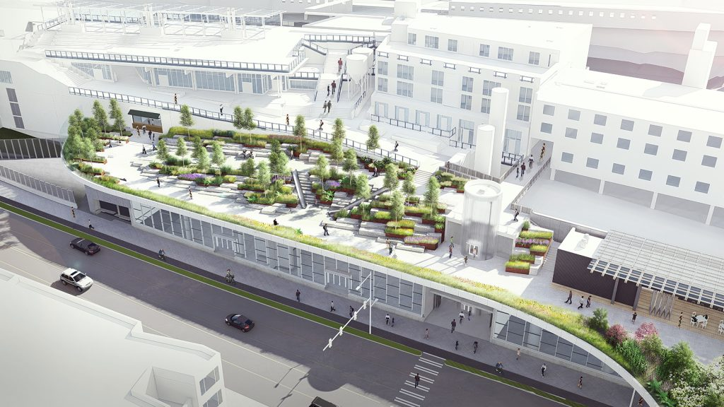 The Overlook Walk will connect the waterfront to Pike Place Market and downtown.