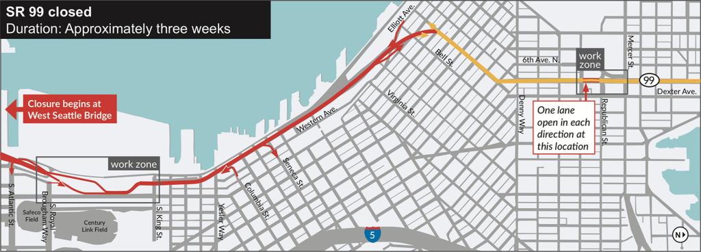 Alaskan Way Viaduct To Close January 2019
