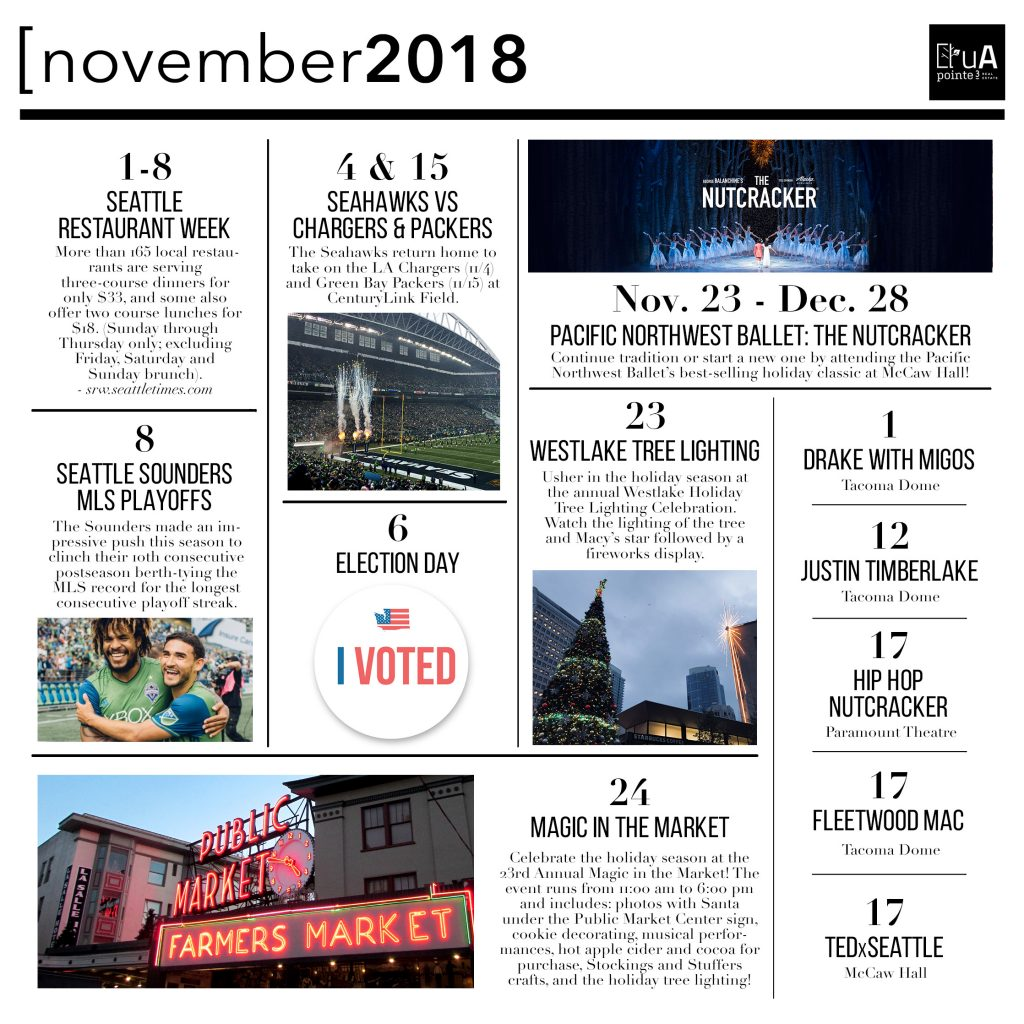 Seattle Event Guide - November 2018