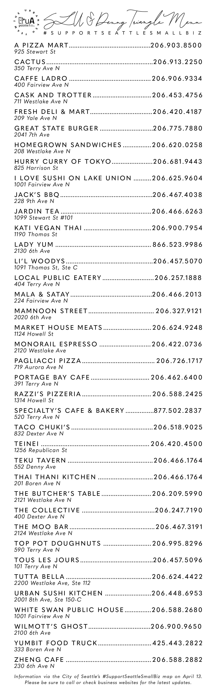 south lake union menu